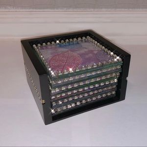 NEW Crystal Embedded Cupholders (Set of 6)